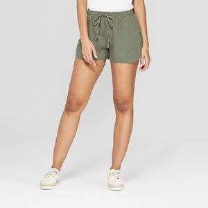 Universal Thread green high rise drawstring shorts